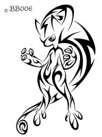 Tribal Mewtwo (New Version) by blackbutterfly006