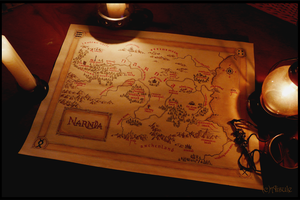 Map of Narnia by Aisule