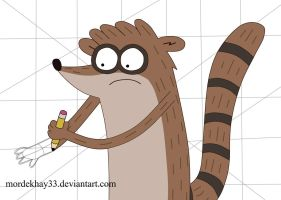 Drawing Rigby by Mordekhay33