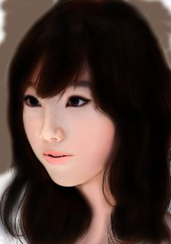 Tae Yeon - colored by AnyaDKNY