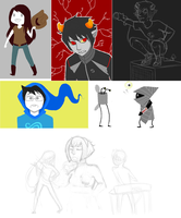Mostly Homestuck Dump by Themoonrulznny