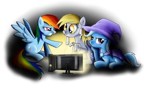 My Little Gaming Ponies by SouthParkTaoist