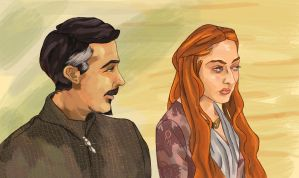 Petyr and Sansa by SmudgeThistle