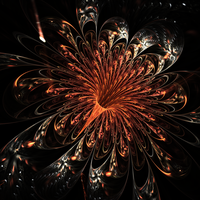 Flower Fireworks - FOTM July (Orange) Entry v2 by Katerine459