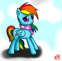 Rainbow Dash and her Scarf by NeoHooves