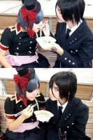 Ciel- Like Lady and the Tramp. by AriB-Rabbit