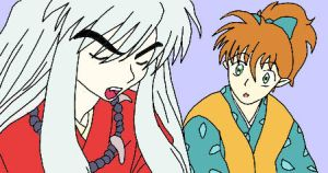 Shippo with Inuyasha by FallenAngelSefra