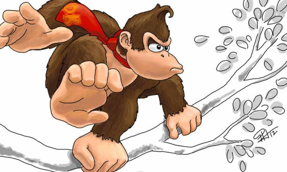 Donkey Kong for DK by clefrayearth