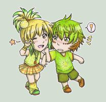 Contest prize: Pineapple  and Kiwi by Fuugis