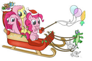 Pinkie Santa by SwanLullaby
