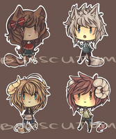 Adopts : super desu chibi set 1 { closed } by Burscutum