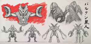Baltan Seijin Redux Sketch Board by ACivicDilemma