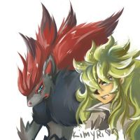 N with Zoroark by Kimyri