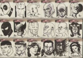 Marvel Sketch Cards by DexterVines