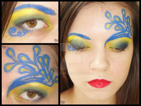 Peacock Gone Wild Make Up by rockin-vs