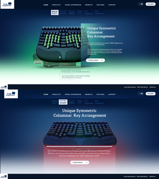 Product showcase website template by RasonDesign