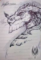 Dragon Head Sketch by DragonGirl787