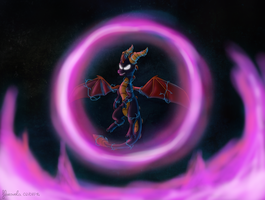 Dark Spyro - Fury by floravola