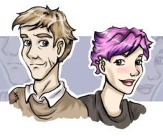 Cute Lupin and Tonks by aliceazzo