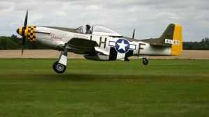 p51 JANIE side view landing by Sceptre63
