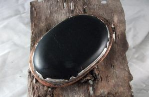 Obsidian Scrying Mirror by Orthaevelve
