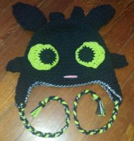 Toothless beanie by laceyrachel