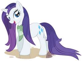 Rarity's muddy mane by LittleHybridShila