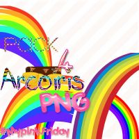 Pack 4 Arcoiris PNG by MyPinkFriday