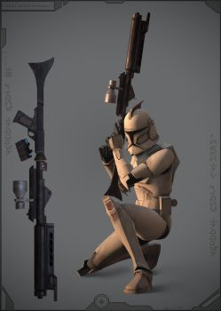 414th Legion Clone Trooper by Vexod14