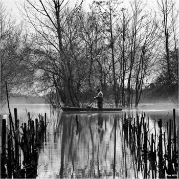 The Old Boatman by Peug