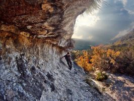 Living on the edge at Lost Maples! by Detrucci