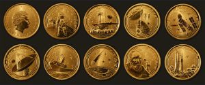 Australian $1 2009 Space coins by T-Tiger