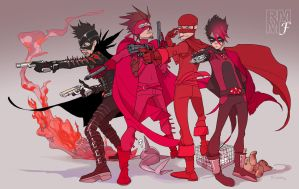 KICK-ASS: Red Mist/The Mofo by Ricken-Art