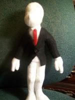 Slender Man plush wip by PollyRockets
