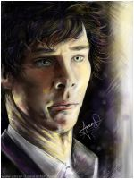 BBC Sherlock Sketchy Portrait by Absur-D