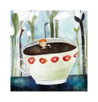 a bath of tea? - annejulie by childrensillustrator