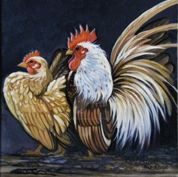 Serama Rooster and Hen 4 by HouseofChabrier
