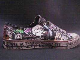 NIGHTMER BEFORE CHRISTMAS HANDPAINTED SHOES by rachelliles352
