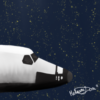 Space Shuttle Speed paint by Jupiter-Foxclaw