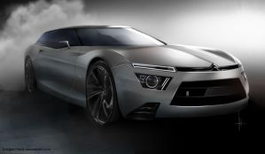 Citroen Shooting brake concept by keegancheok