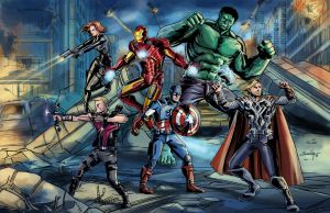 The Avengers by SachaLefebvre