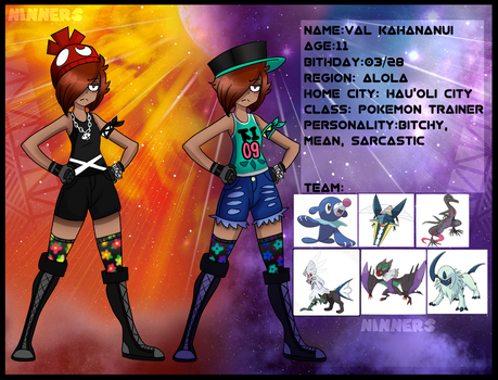 Val Kahananui:: oc pokemon trainer by KING-NINNERS