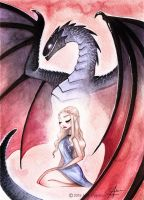 Mother of Dragons, Game of Thrones by AliceCha