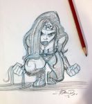 Wonder Woman Pounce by tombancroft