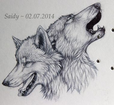 Wolf Design of a File by SaidyWolf