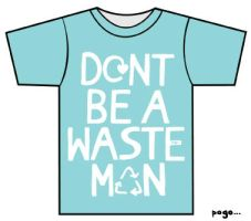 "Blue ""Wasteman"" Tee by Jordan-Austin"