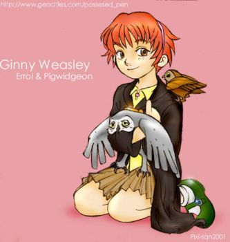 Ginny and The Weasley owls by Pixi-san