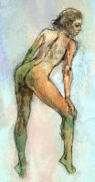 Nude 1 with color by ChristineAltese
