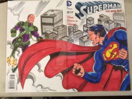 Superman sketch cover by hdub7