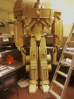 Fully Completed Optimus Prime Sculpture by pwarner184